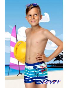 """Плавки купальные для мальчиков сине-голубого цвета """"Бейсбол"""""""