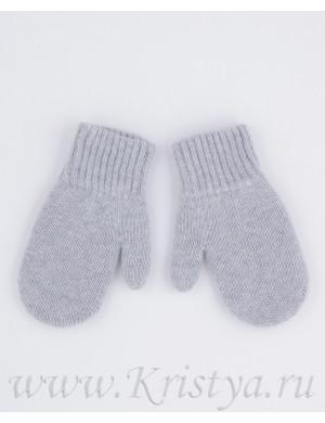Варежки зимние двойные серого цвета ПУСТЫШКА
