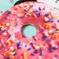"""Футболка-лонгслив мятного цвета с длинным рукавом для девочек """"Пончик"""""""